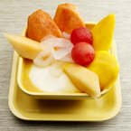 Mixed Fruits Beancurd with Mango Juice/Coconut Juice