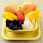 Mixed Fruits Grass Jelly with Mango Juice/Coconut Juice