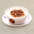 Double Boiled Milk with Baked Walnut